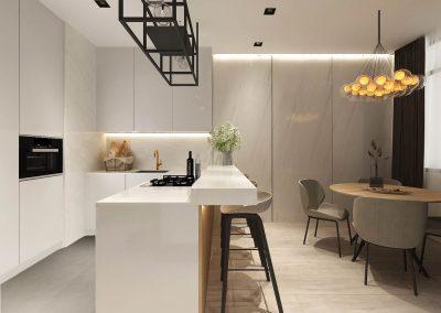 Kuchyně s bílým mramorem Praha